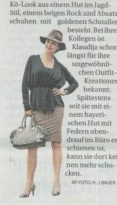 Klaudija Paunovic und der Kö Look, Rheinische Post
