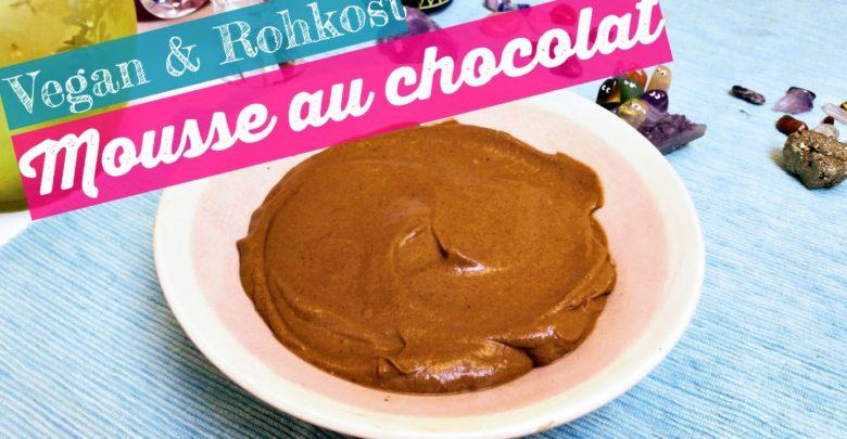 Vegan Rohkost Mousse au chocolat Schokoladenmousse rezept