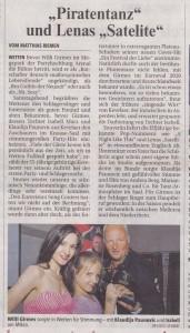 Rheinische Post Klaudija Paunovic Willi Girmes Isabell Marx