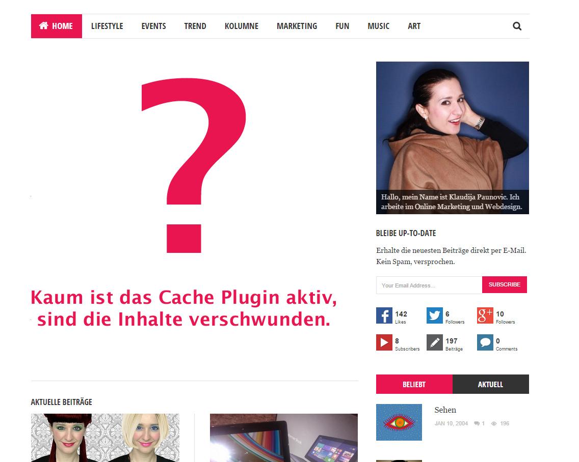 Photo of Das Cache Plugin Problem: Weiße Seite wird statt Inhalt angezeigt
