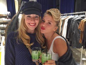 Nadine Löchner und Evelyn Burdecki beim Calvin Klein Opening