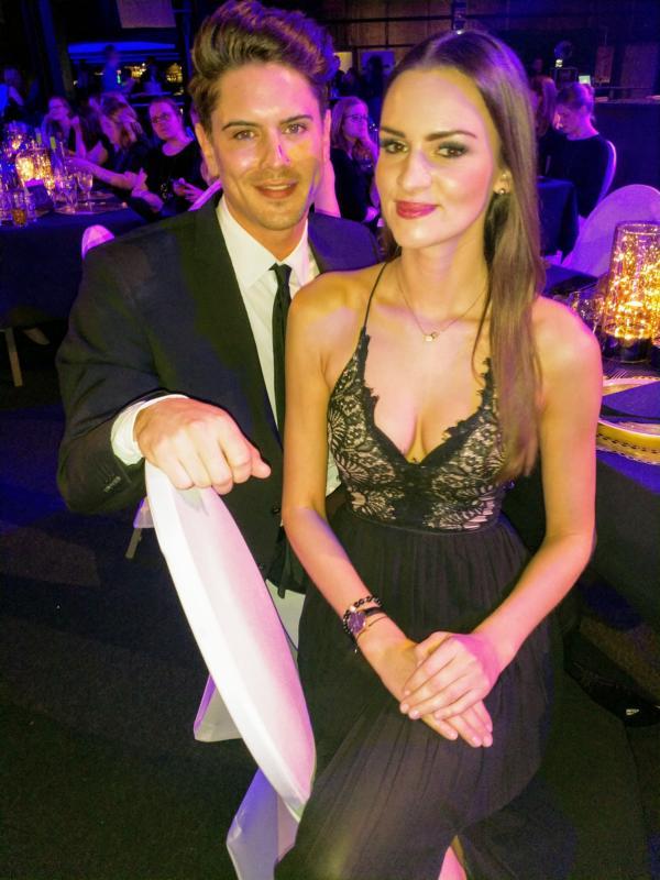 Dominik Bruntner und Lena Bröder haben sich versöhnt, Goldene Sonne Gala 2018