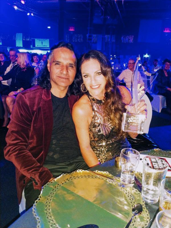 Christine Neubauer und Freund Jose Campos, Goldene Sonne 2018