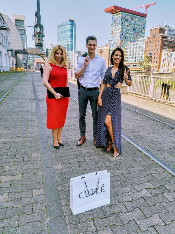 Cuplé Düsseldorf Fashion, Isabella Basile, David Miga, Anja Katharina Baudeck