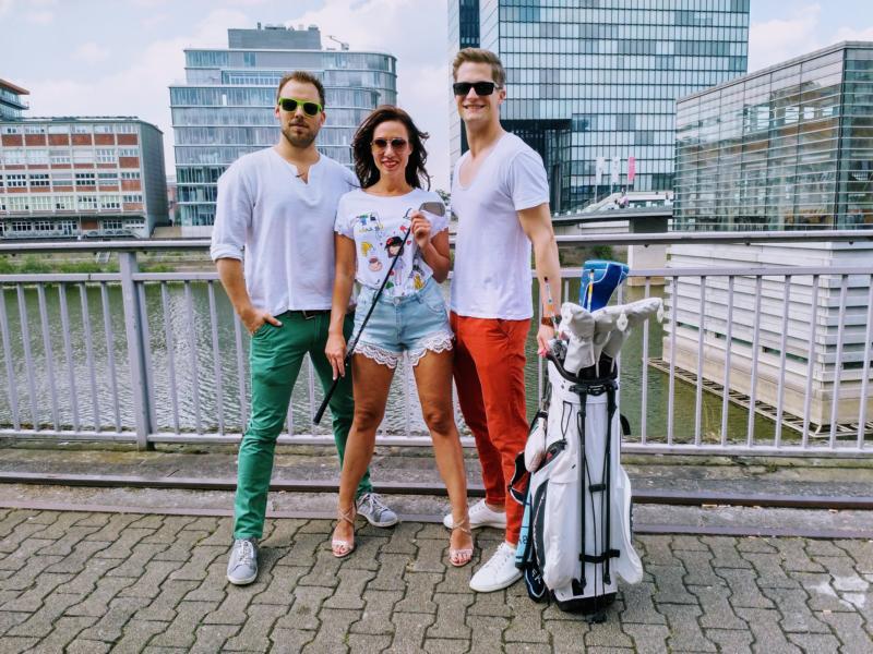Cuplé Düsseldorf Fashion, Isabella Basile, Anja Katharina Baudeck, David Miga