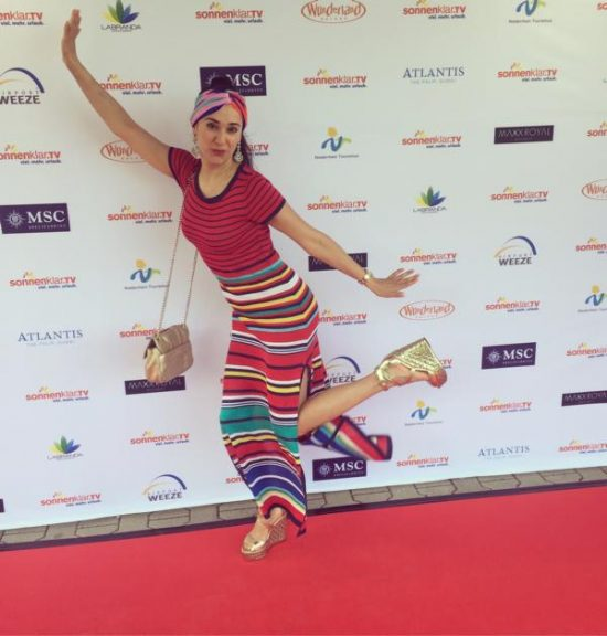 Klaudija Paunovic auf der Verleihung der goldenen Sonne 2017