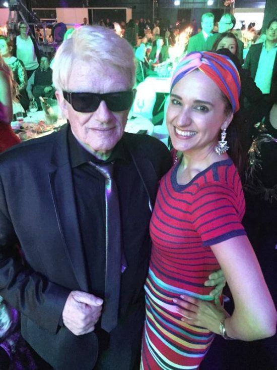 Heino mit Klaudija Paunovic auf der Verleihung der goldenen Sonne 2017