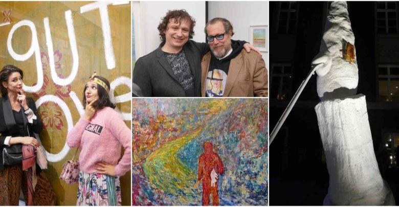 Photo of Kunst trifft Meditation – Starkünstler Julian Schnabel kuratiert Adushkin und enthüllt Bronzeskulptur