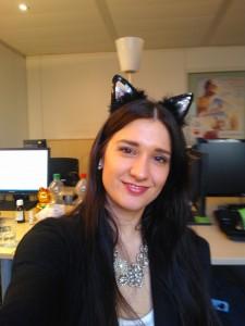 Klaudija als Katze