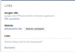 Google pLus webseite verifizieren