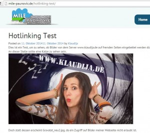 Hotlinking Test Live