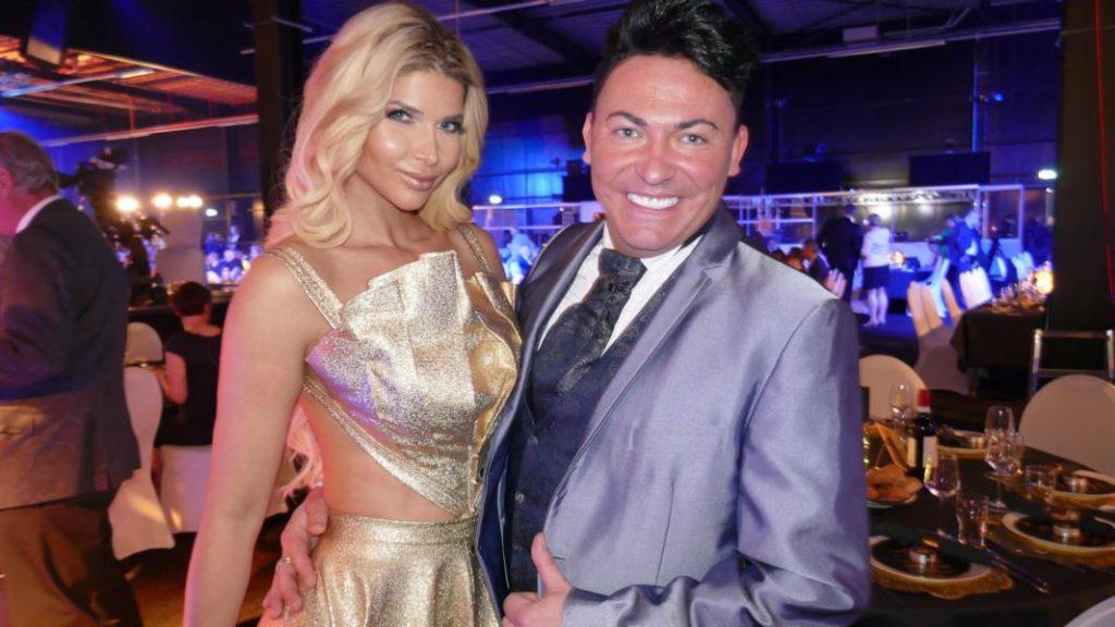 Matthias Fella mit Micaela Schaefer auf der Goldene Sonne Gala 2019