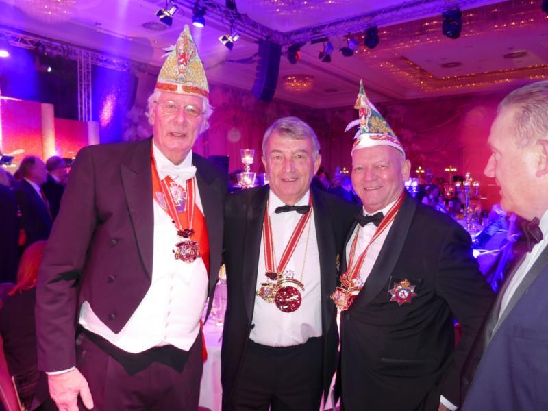 Jobsi Driessen, Joachim Hunold und Wolfgang Niersbach
