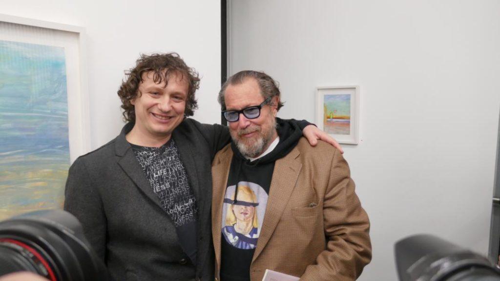 Denis Pavlovich Adushkin und Julian Schnabel in Düsseldorf