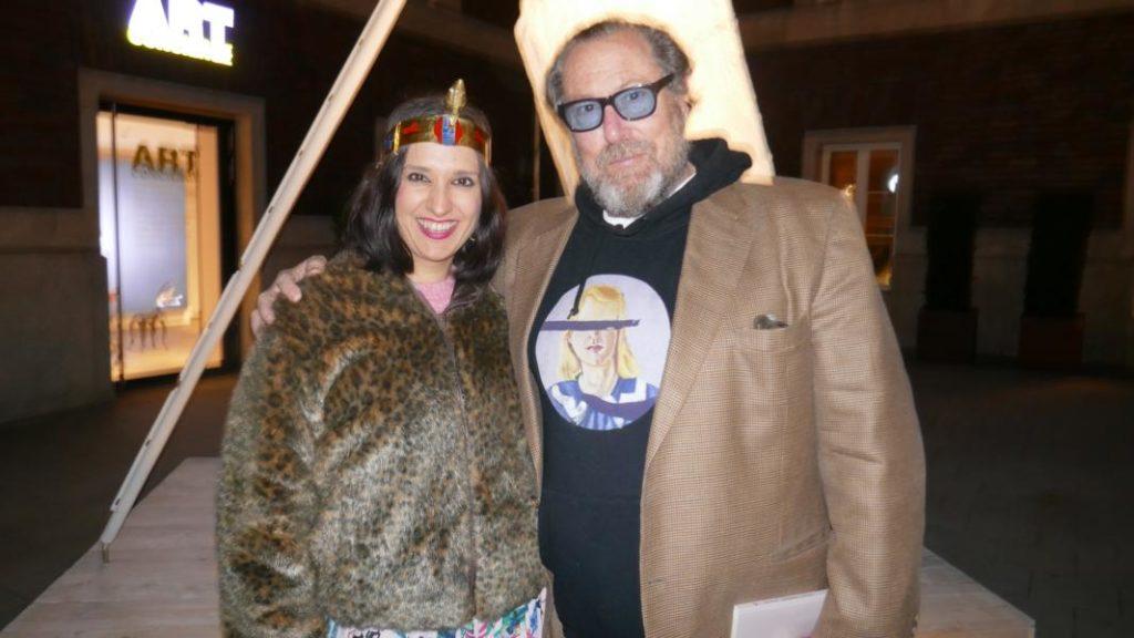 Julian Schnabel mit Klaudija Paunovic