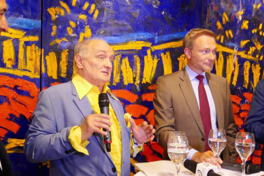 Bernd Schwarzer, Christian Lindner in Düsseldorf