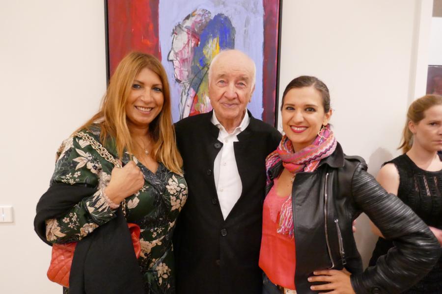 Armin Mueller-Stahl mit Nicoleta Jutka und Klaudija Paunovic