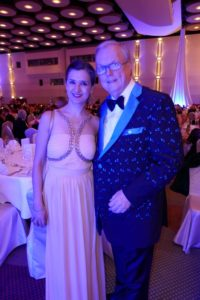 Heribert Klein auf UNICEF Gala 2010 mit Bloggerin Klaudija Paunovic