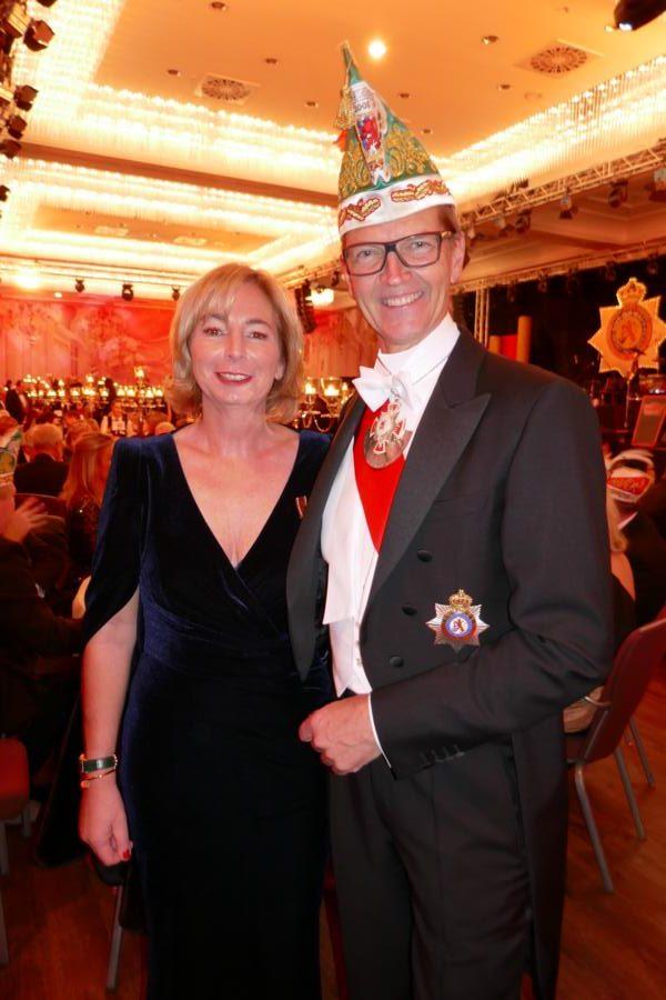 Nicole und Josef Hinkel auf dem Prinzenball 2020