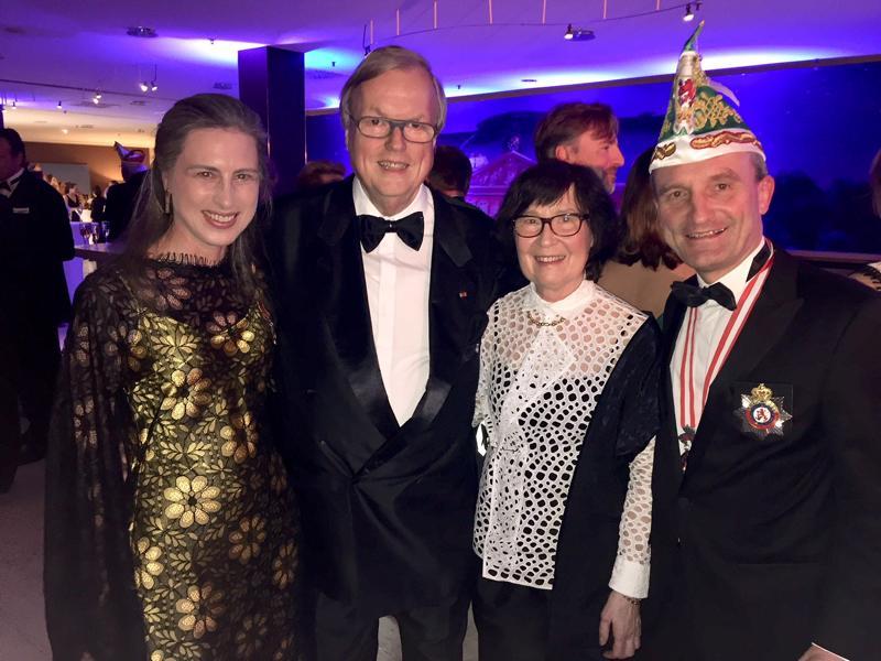 Prinzenball 2018 Düsseldorf, Vera und Thomas Geisel, Heribert Klein mit Frau