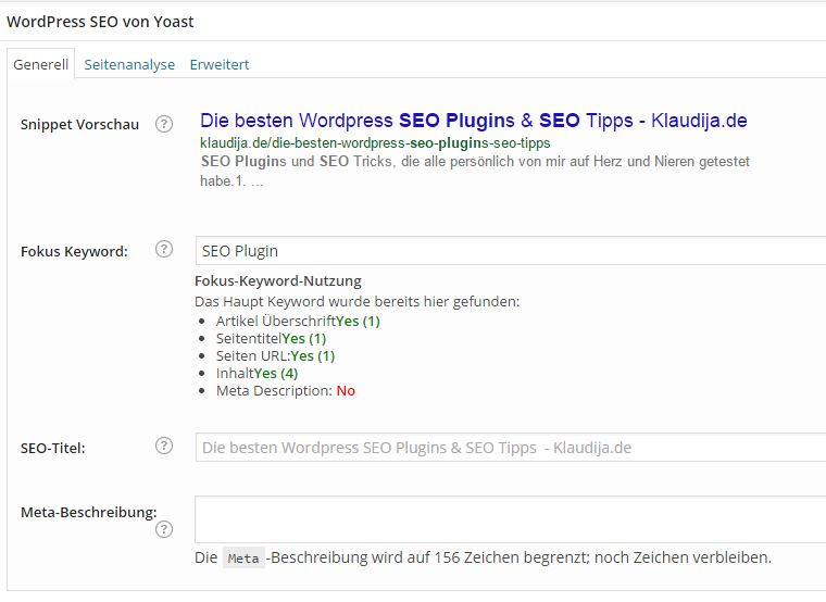 SEO Yoast Screenshot