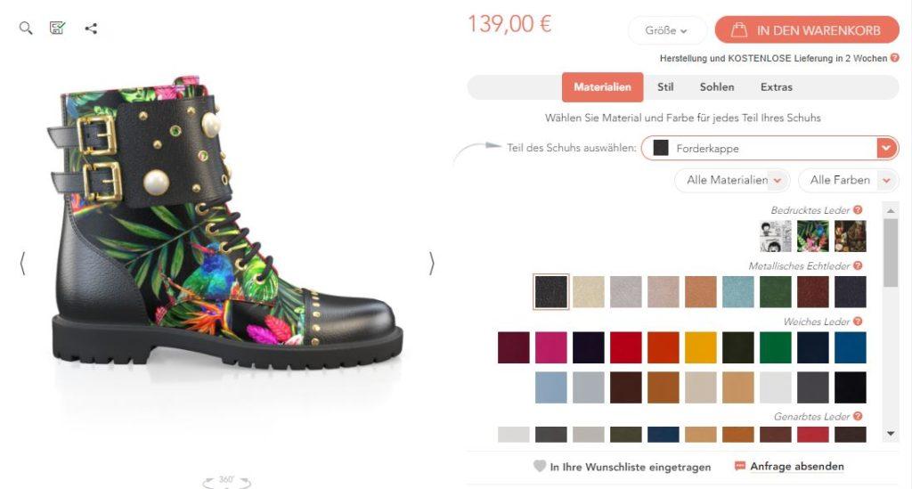 Schuhe online designen, Girotti