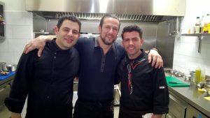 Chefkoch Johan Toromanis, Inhaber Saban Emini und Koch Aleksander Ileshi