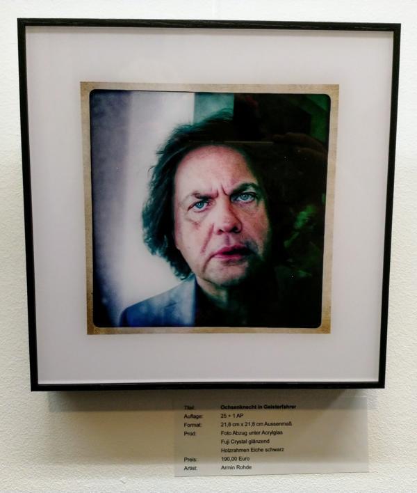 Armin Rhode, Uwe Ochsenknecht, Gestohlenes Licht Kunstausstellung Sander & Sohn Düsseldorf