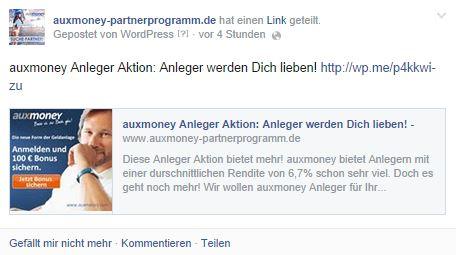 automatischer facebook post