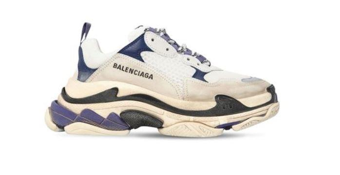Triple S Balenciaga im Used Look
