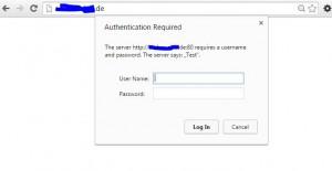 Passwortschutz Webseite