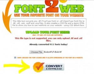OTf TTF to Web font