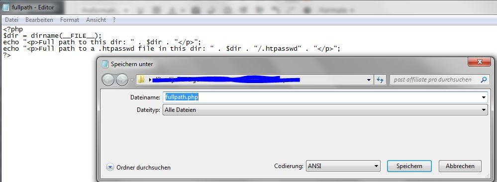"""Im Editor unbedingt """"Alle Dateien"""" als Dateityp auswählen!"""