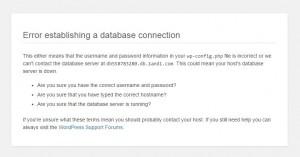 Problem WordPress Datenbank