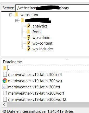 Fonts auf Server installieren