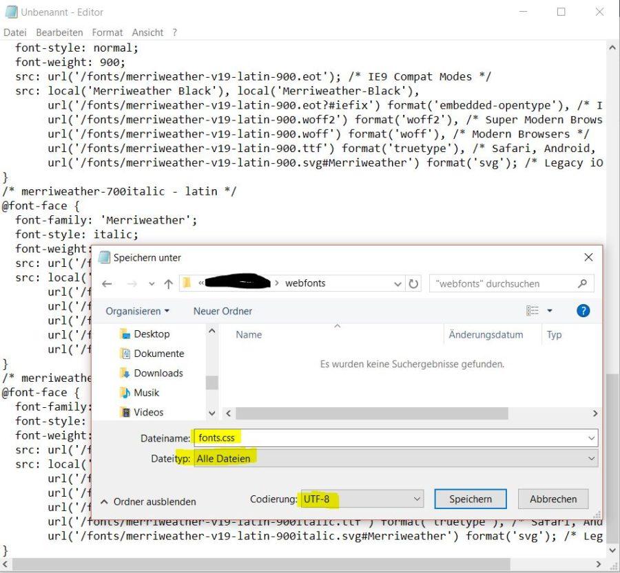 CSS Datei mit Text Editor erstellen