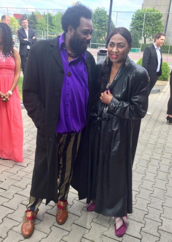 Marcia Barrett und Ehemann Marcus auf der Verleihung der goldenen Sonne 2017