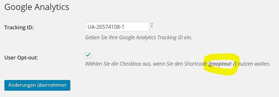 Google Analytics WordPress Plugin mit Anonymize IP