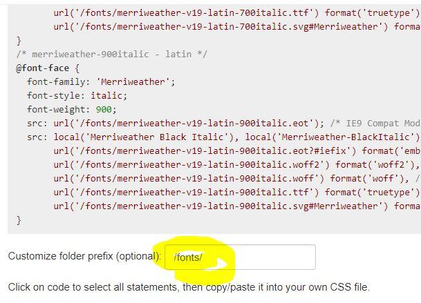 Google Fonts helper