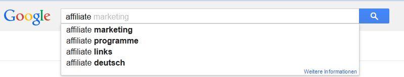 Google Suggest Vorschläge