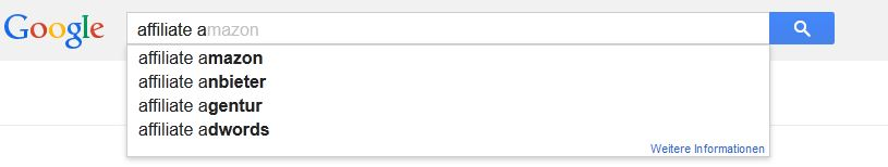 Googel suggest anfangsbuchstabe