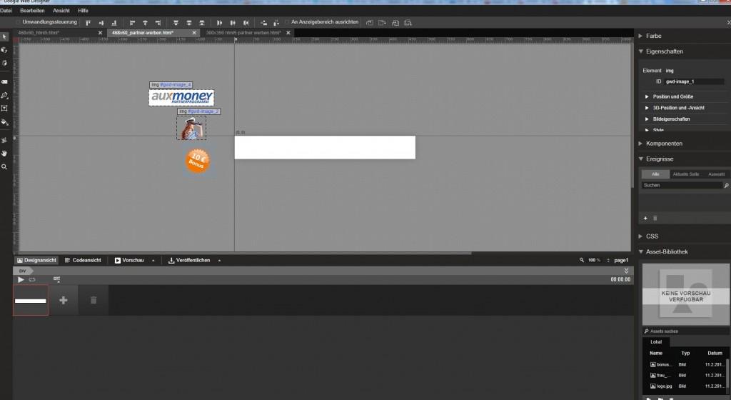 Banner erstellen mit Google Web Designer