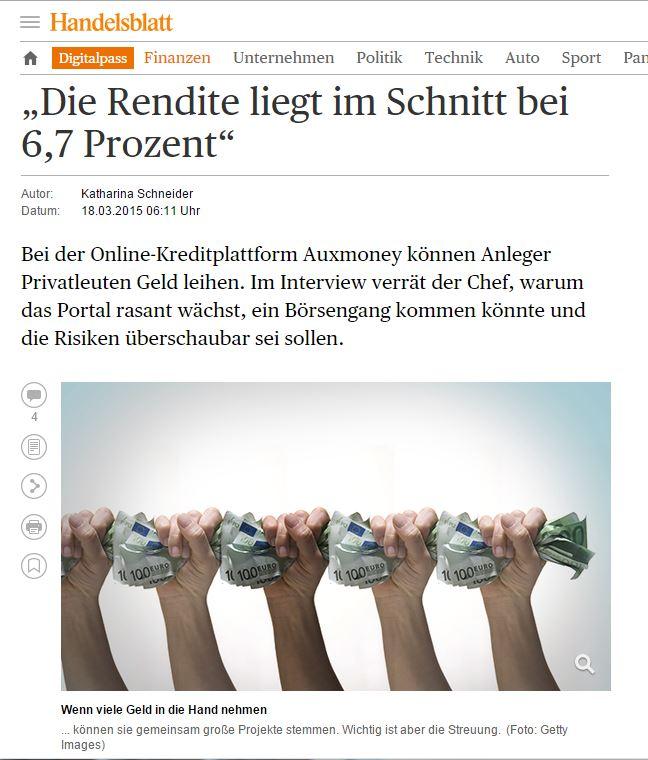 Photo of auxmoney in der Presse: Handelsblatt geht auxmoney auf den Grund