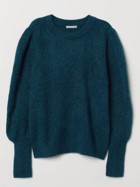 H&M Pullover in Petrol