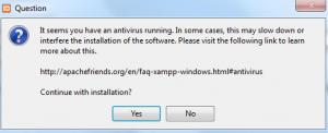 Antivirus Programm kann die Installation von XAMPP beeinträchtigen