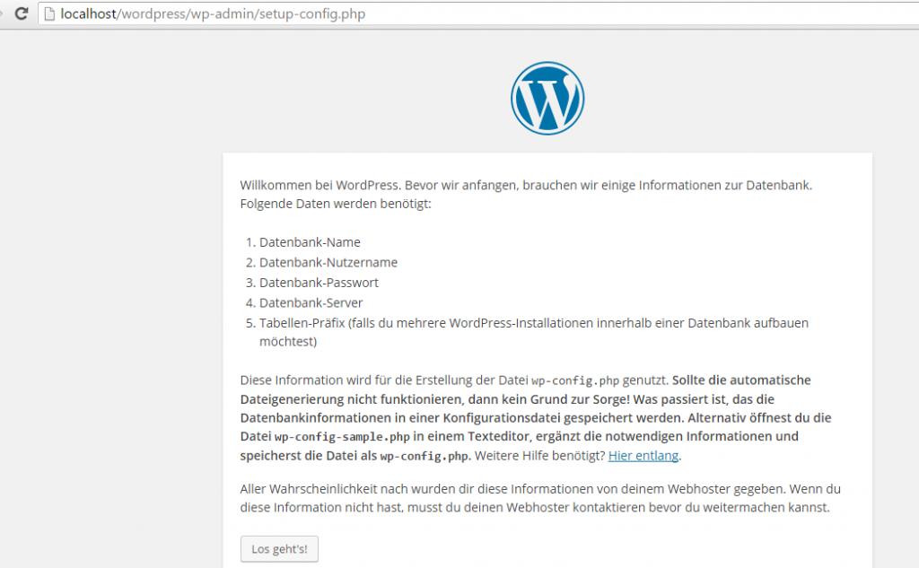 Wordpress mit XAMPP installieren