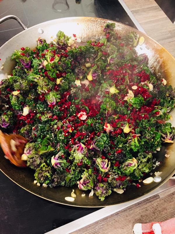 Kalettes Gemüsepfanne, Vegane exotische Gemüsepfanne