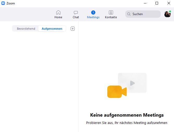 Zoom Desktop hat Zoom Browser Aufnahmen nicht drin
