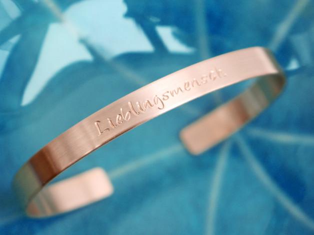 Kupfer Armband individualisierbar