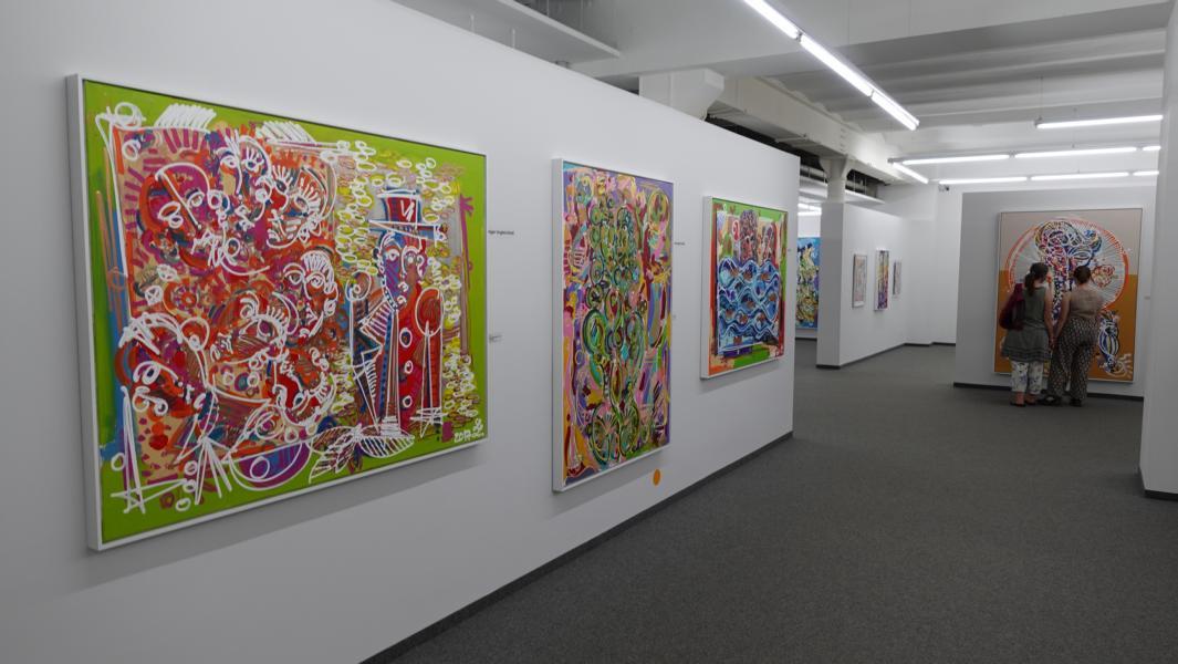 Leon Löwentraut Bilder in der Kunsthalle Messmer